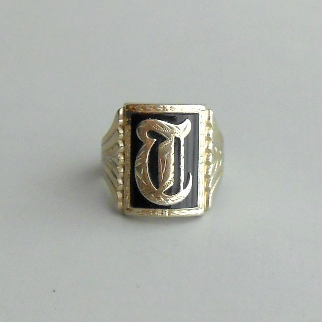 items similar to antique mens ring 10k white gold
