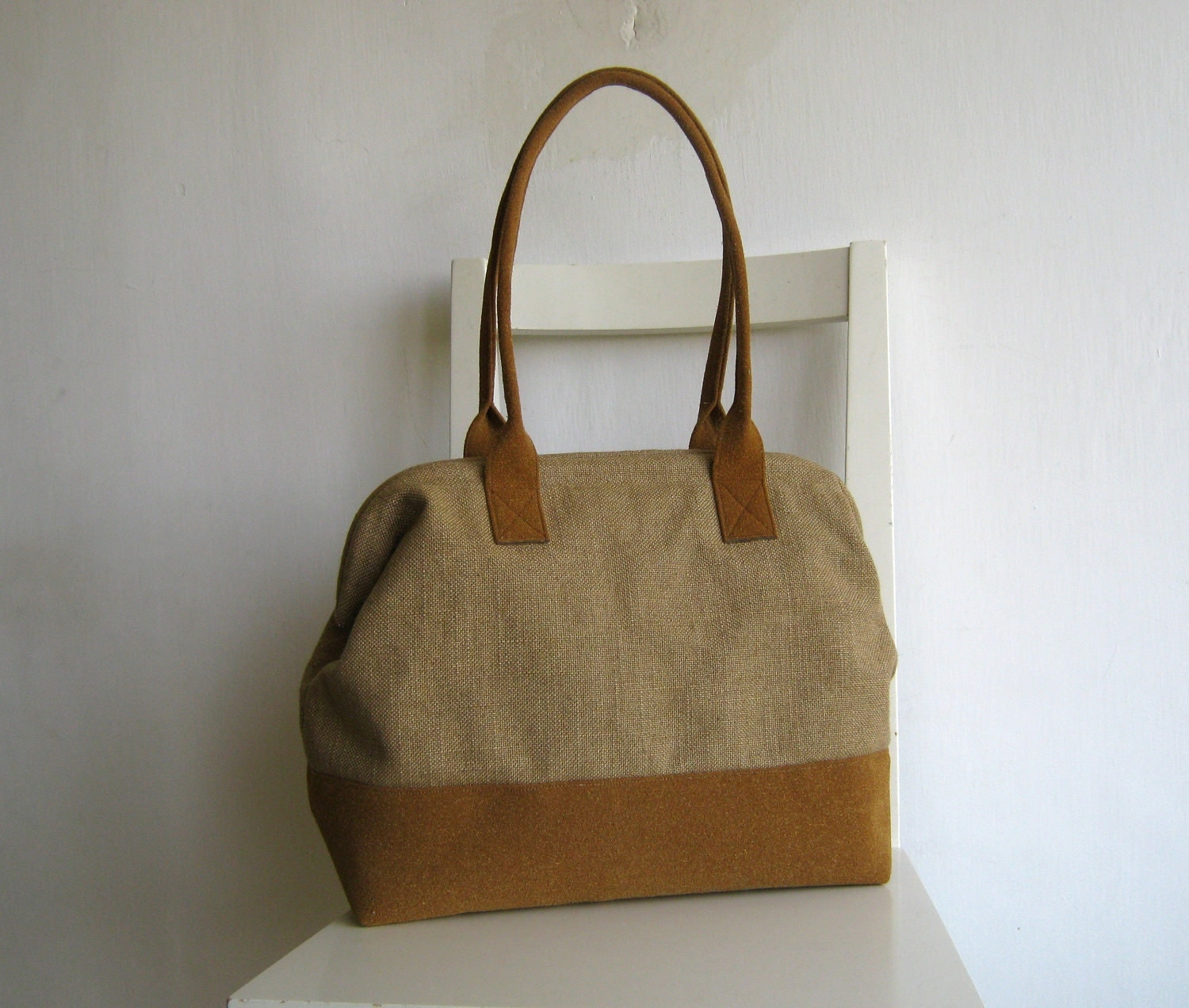 Burlap Doctor bag