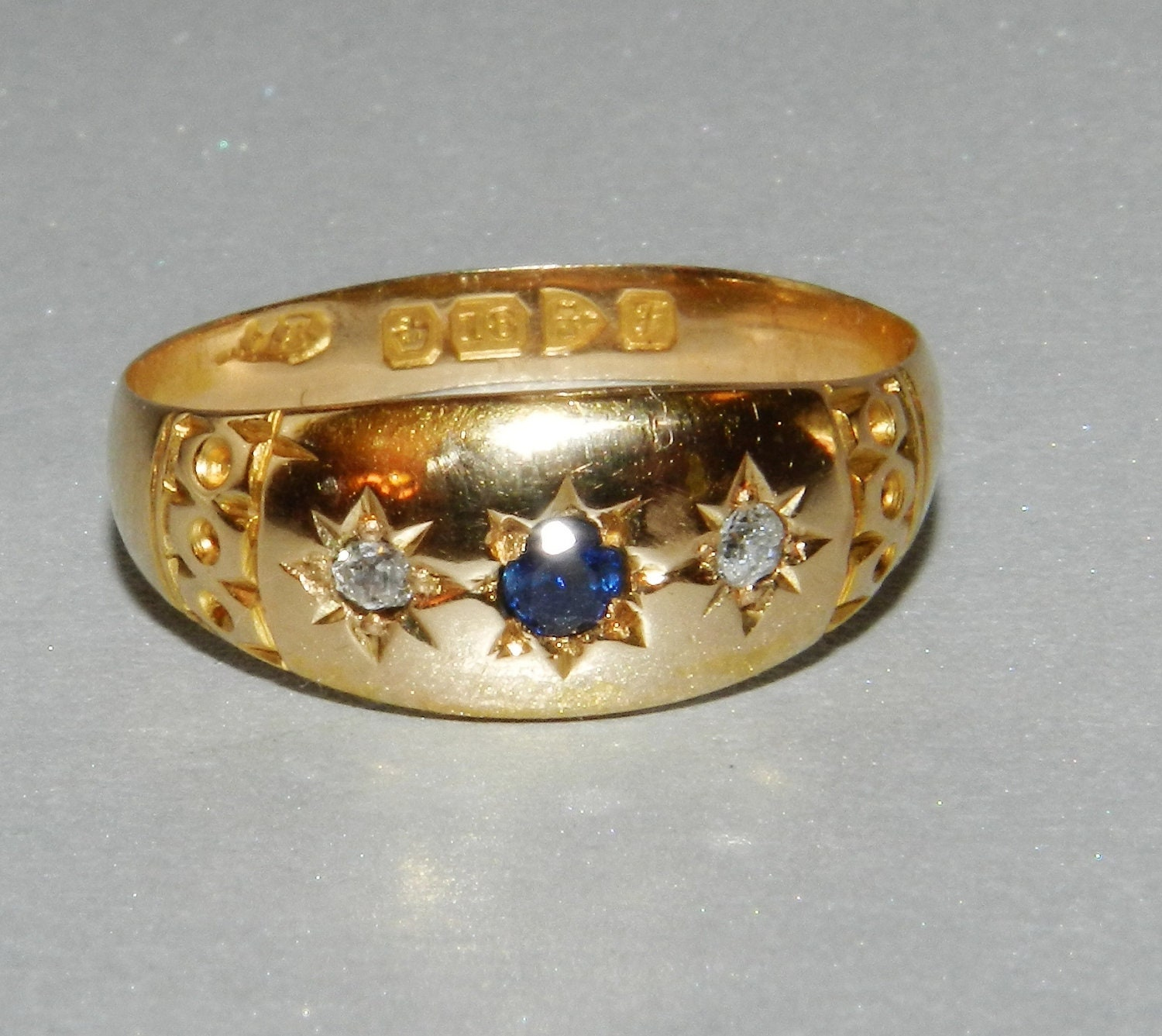 antique wedding band 18k gold antique by
