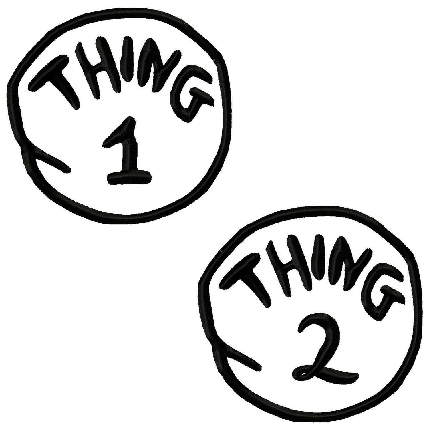 Amazing image in thing 1 and thing 2 printable circles