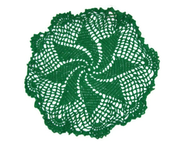 Green Pinwheel Doily St Patrick's Day - amydscrochet