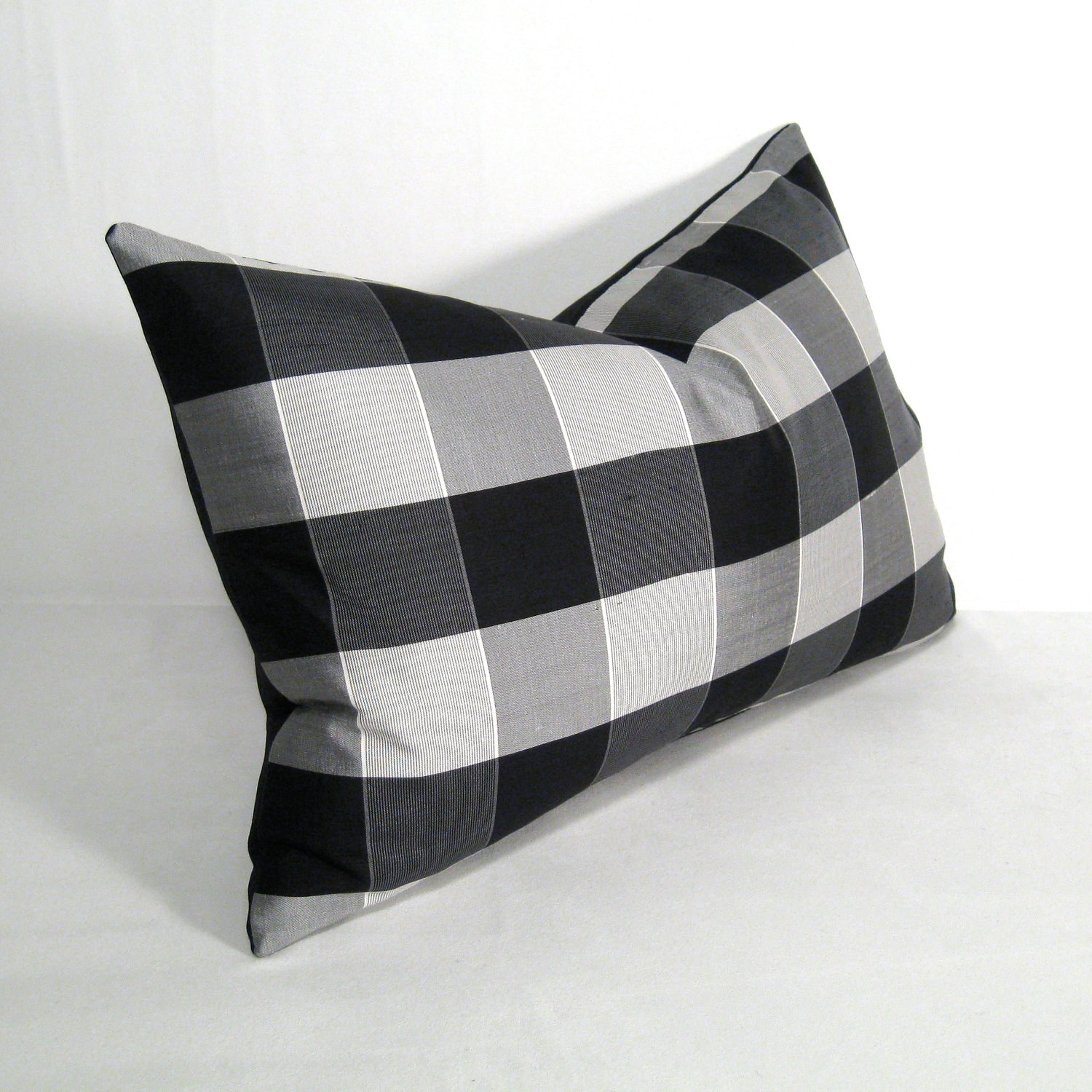 sale grey black white pillow cover gray silk pillow by mazizmuse. Black Bedroom Furniture Sets. Home Design Ideas