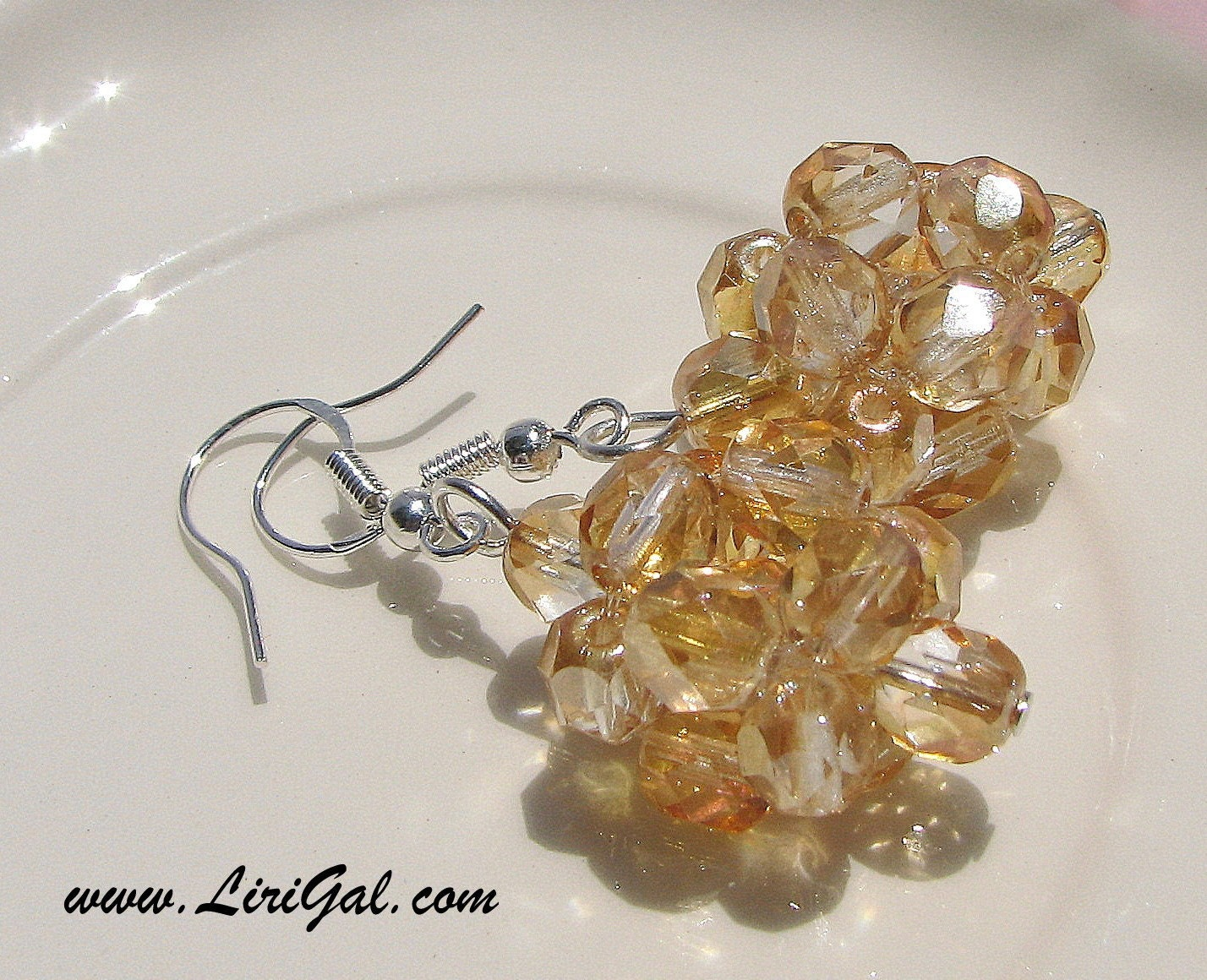 Amber Sterling Silver Earrings