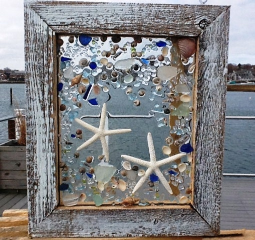 sea glass fish window by beachcreation on etsy