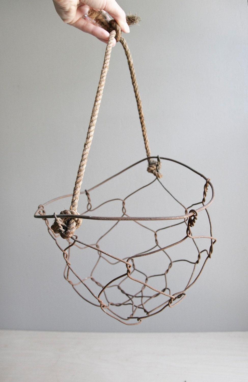 Handmade wire basket : Handmade wire basket by ohalbatross on etsy