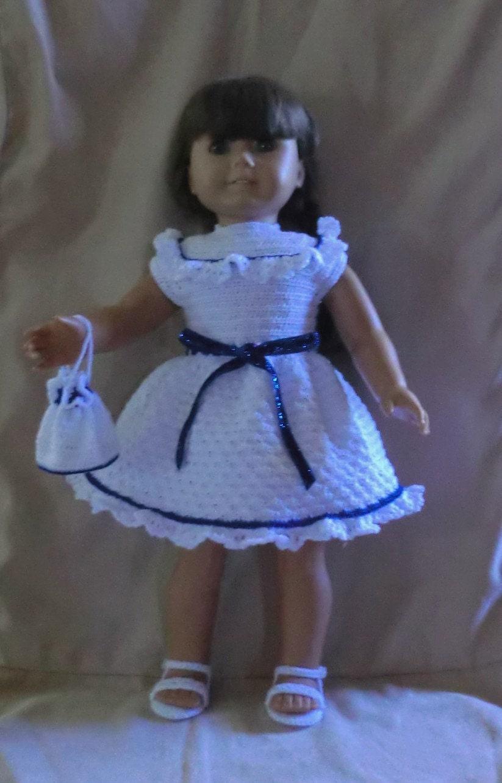 Crochet Dress Up Doll Pattern : Crochet Pattern 157 Party Dress Set for 18 Inch by barbsdolls