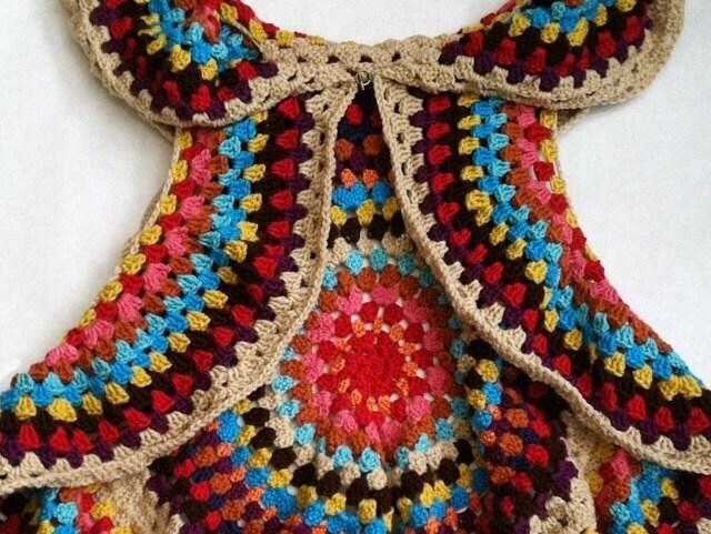 Free Crochet Pattern For Mandala Vest : Crochet PATTERN for Womens Mandala Vest by VanDruDesigns ...