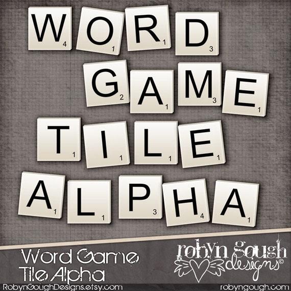 Clip Art Word Games : Digital scrapbook alpha clip art word game by