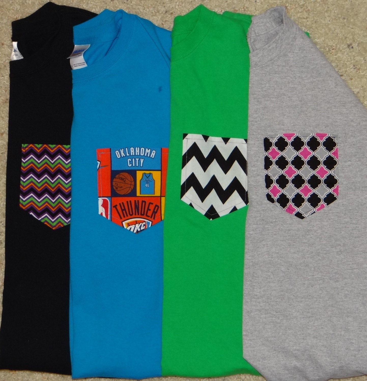 Items similar to custom pocket short sleeve t shirts on etsy for Custom t shirt with pocket