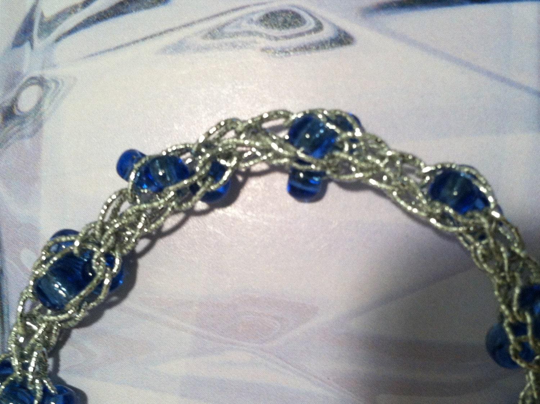 Silver and Glass Stretch Bracelet