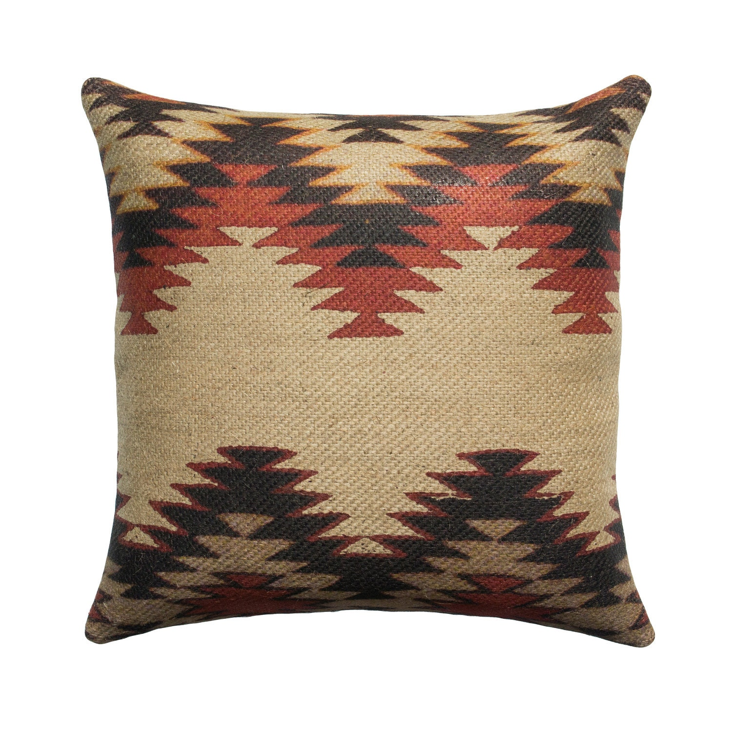 Black and Red Chevron Pillow Cover Aztec by TheWatsonShop on Etsy