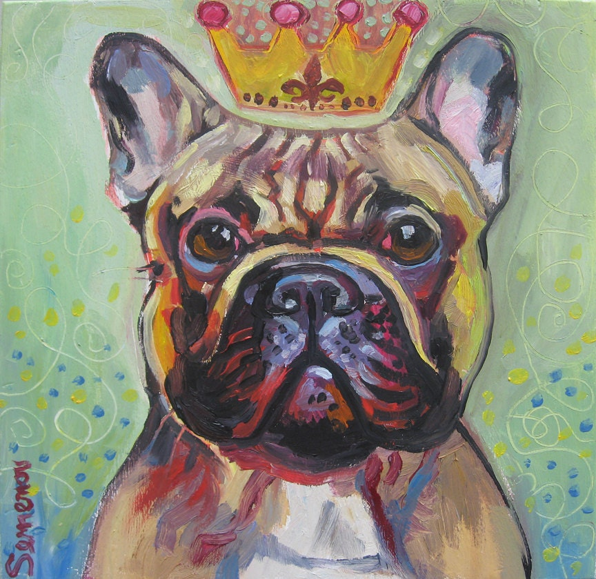 I Will Paint Your French Bulldog - SALE - genasemenov