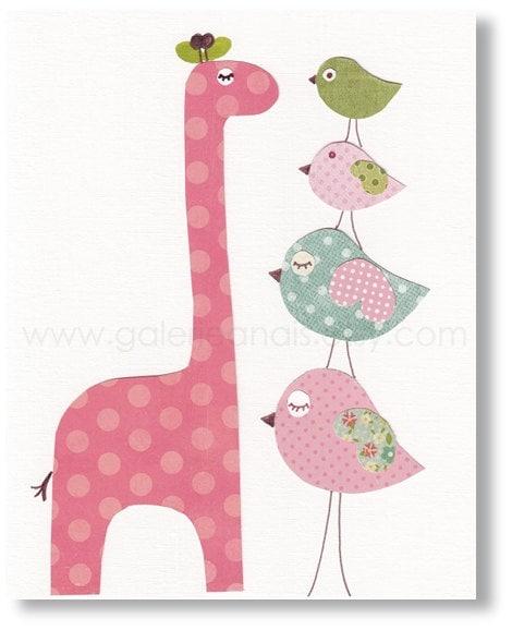 Giraffe Nursery Animal Girl Bedroom Baby Nursery By