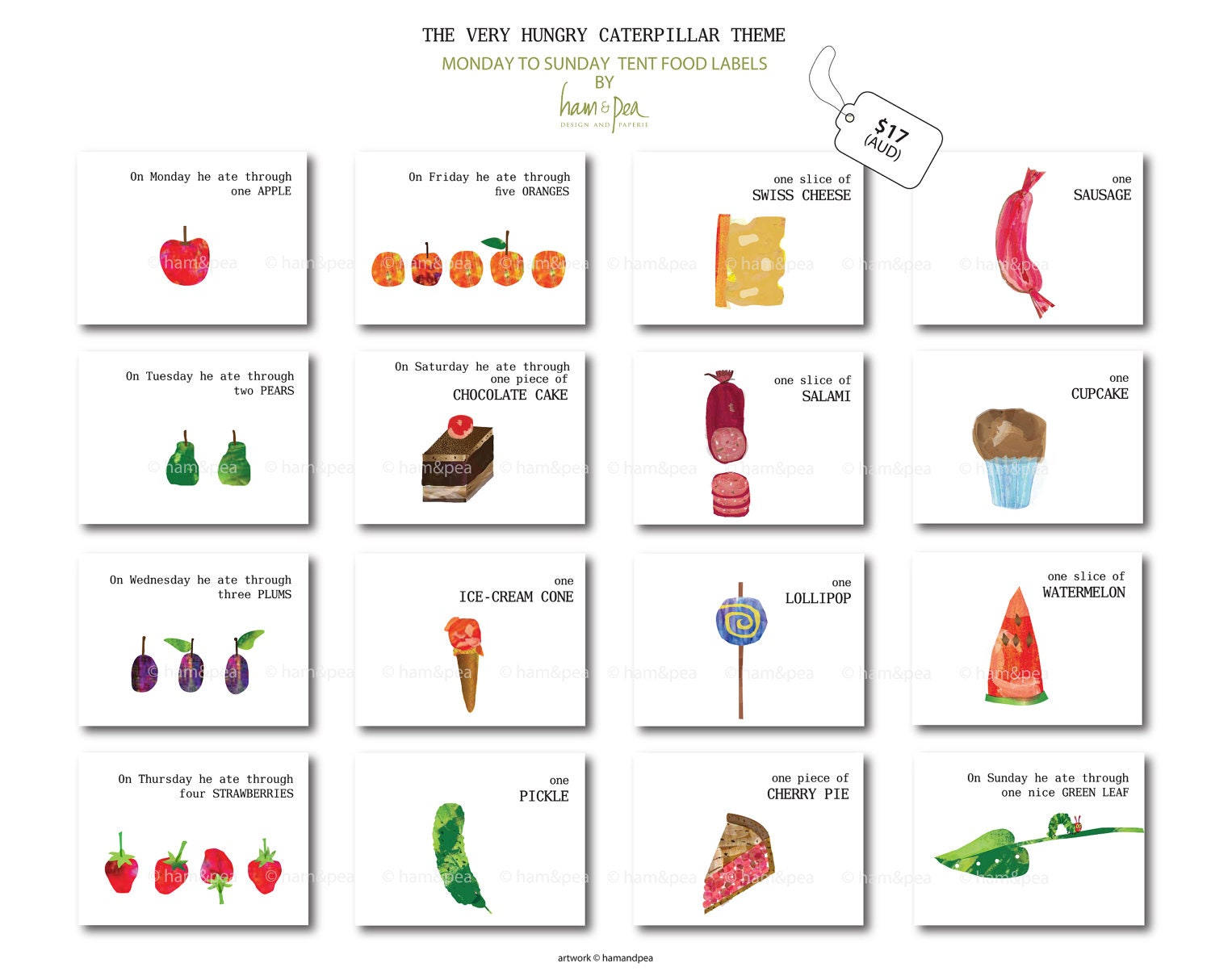 Magic image with the very hungry caterpillar story printable