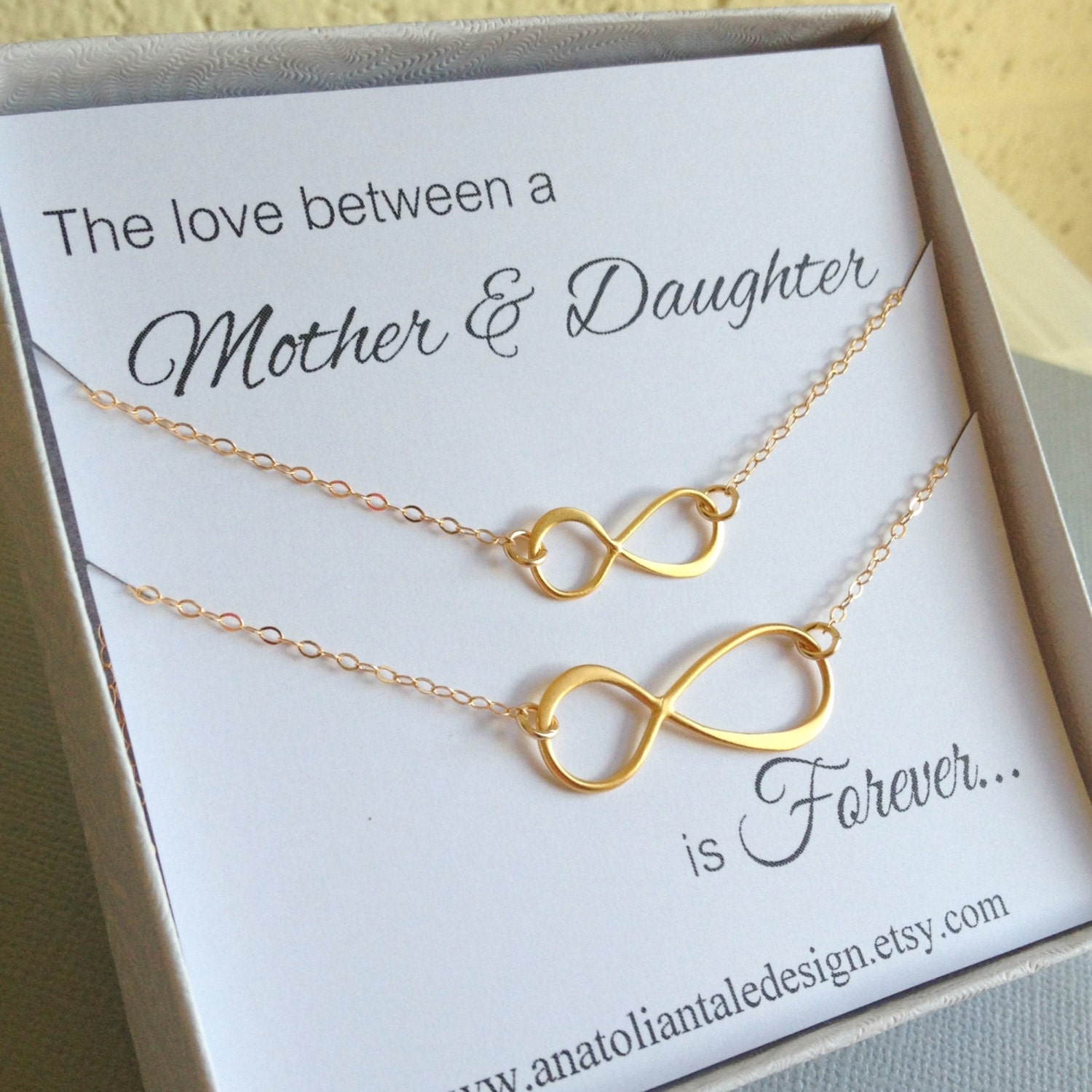 Mother Daughter Jewelry Set Infinity By Anatoliantaledesign