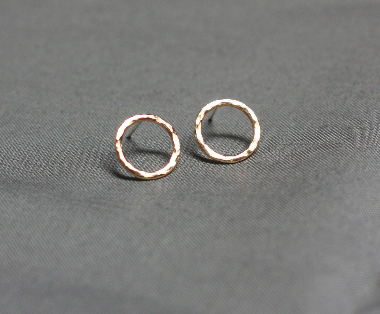 Circle Post Earrings Gold Everyday Earrings Gold Circle Stud