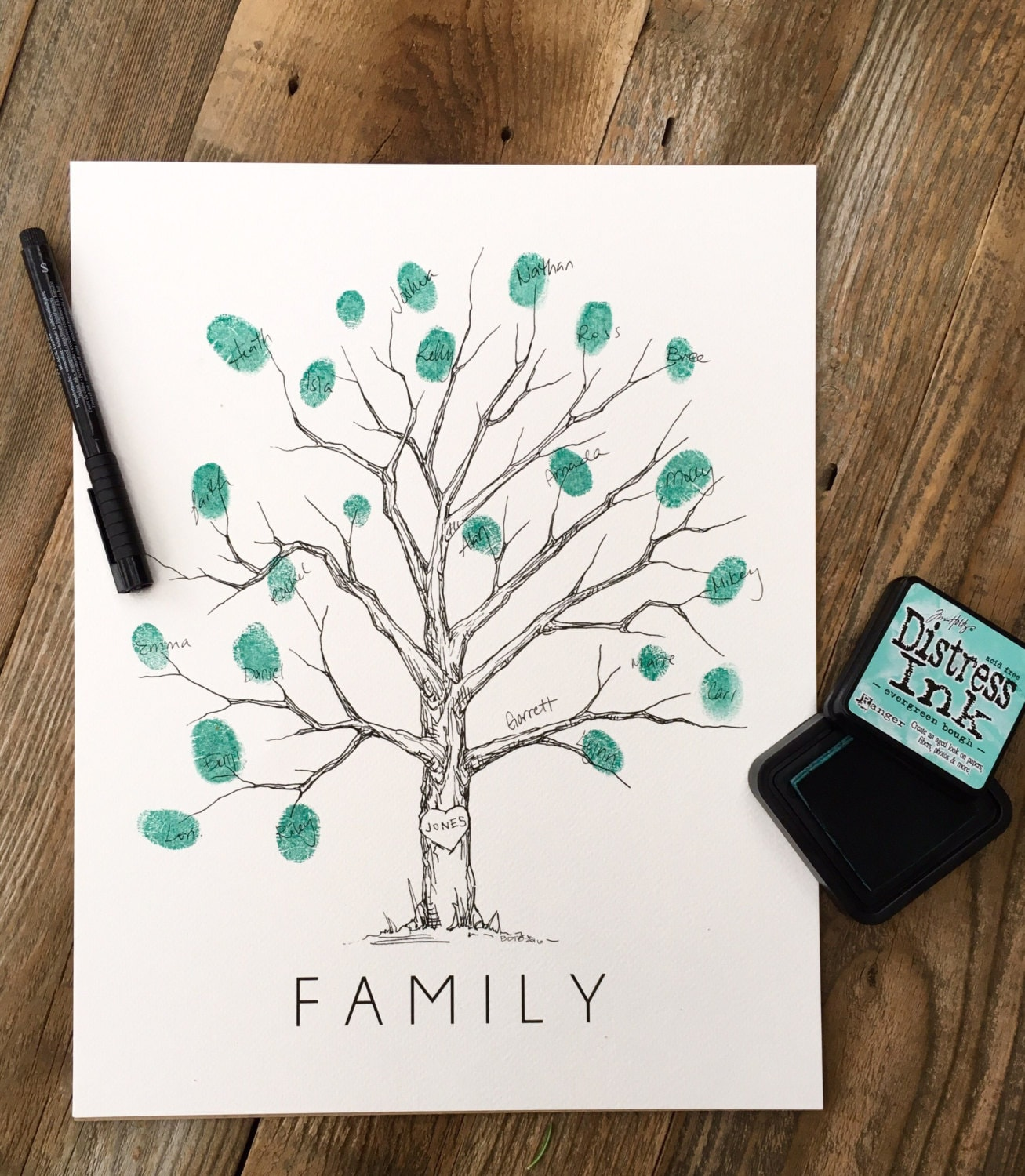 Thumbprint Family Tree Template 6312966 Hitori49fo