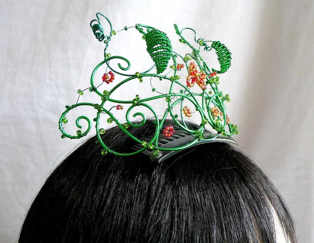 mayqueen tiara, handmade