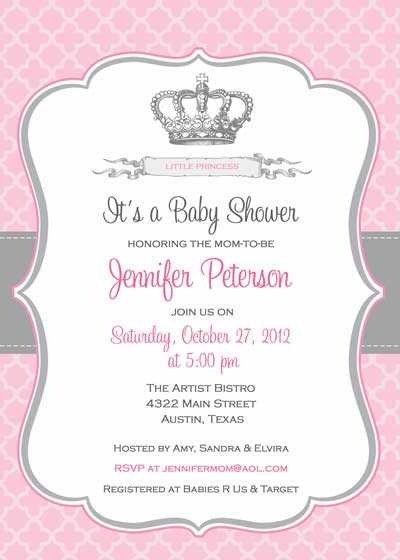 Etsy Baby Girl Shower Invitations with awesome invitation layout