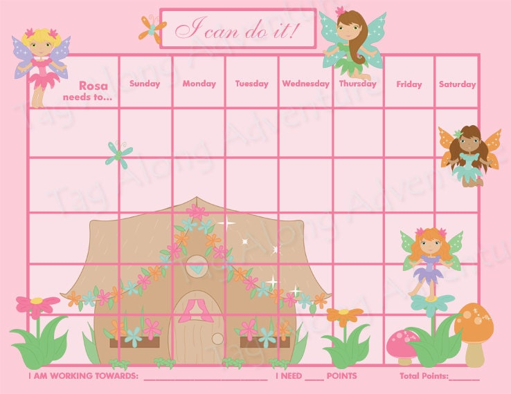 PRINTABLE Customizable Child Reward Chart / by