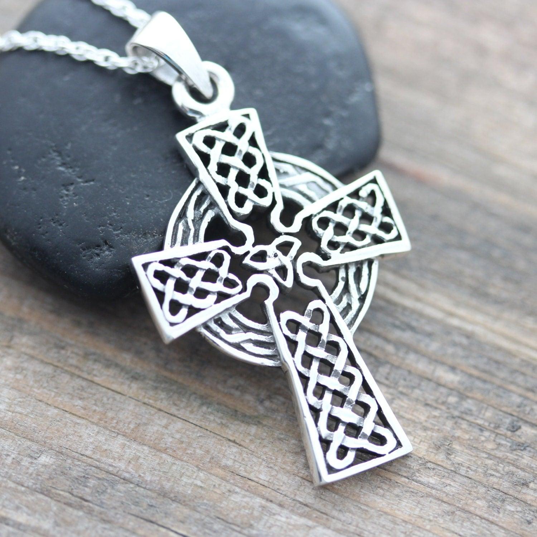 protective celtic cross sterling silver men cross by. Black Bedroom Furniture Sets. Home Design Ideas