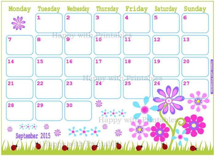 Blank Calendar Page September 2015 – September printable calendars