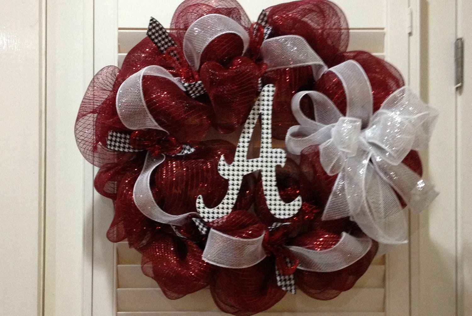 alabama crimson tide door wreath roll tide by
