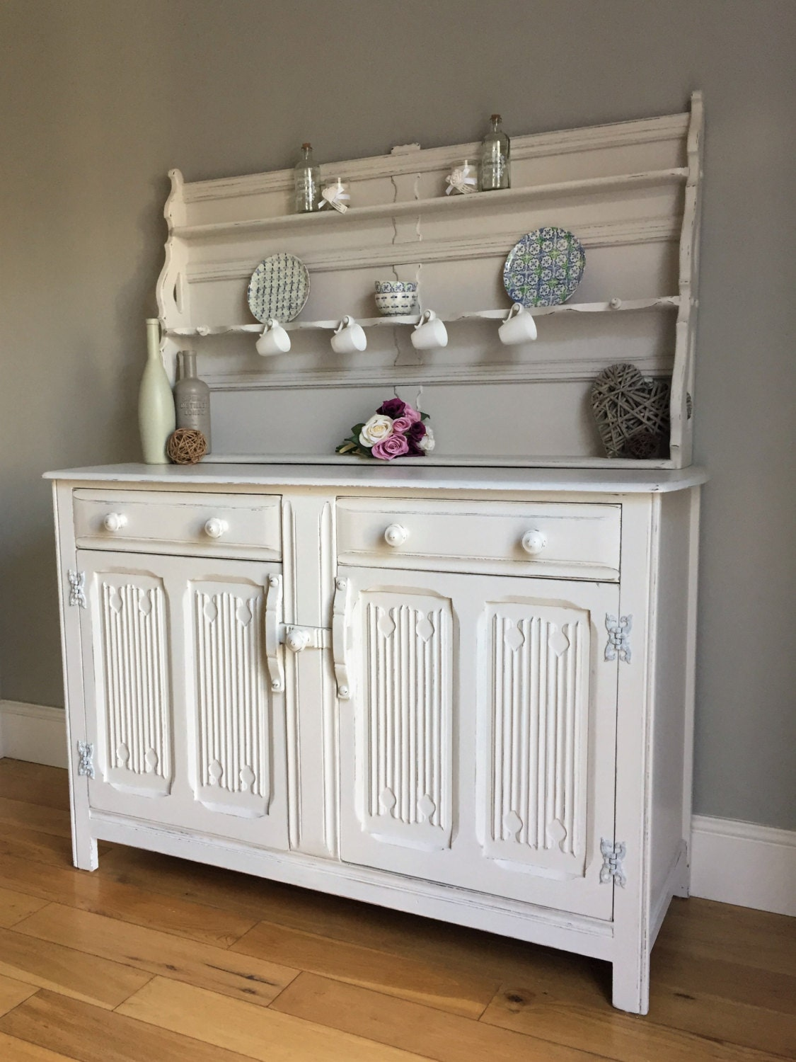 Vintage Ercol Painted Dresser  Sideboard  Display Unit (delivery quote available on request)
