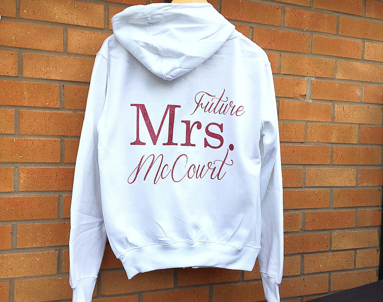 Future Mrs Hoodie Personalised Hoodie Wedding Hoodie Hen Party Zip Sweatshirt Personalized Hoodie Hen Party Sweatshirts