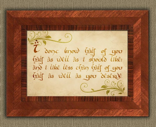 Bilbo Baggins Party Speech Quote Lord of by mithrilandmathoms