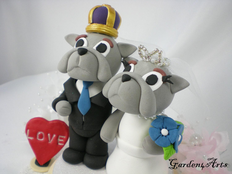 Custom Wedding Cake TopperUnique College Mascot by Garden4Arts