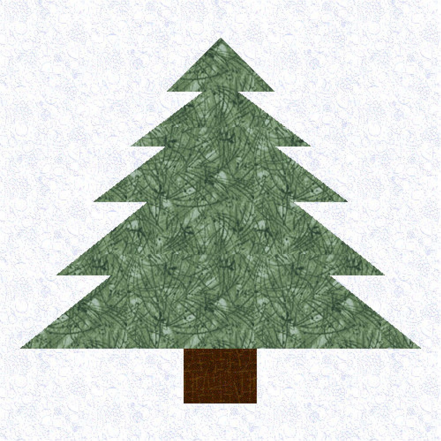 Pine Tree Quilt Block Pattern Multi Size By