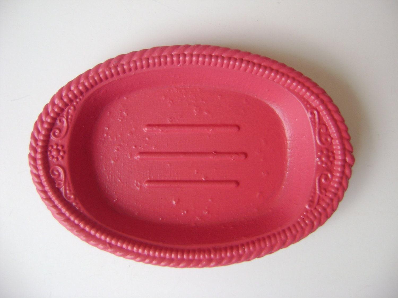Vintage Soap Dish/Business Card Holder--Teacher Gift--Pink Decor - HallesHouse