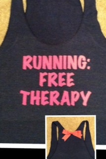 Running Free Therapy Racerback Tank