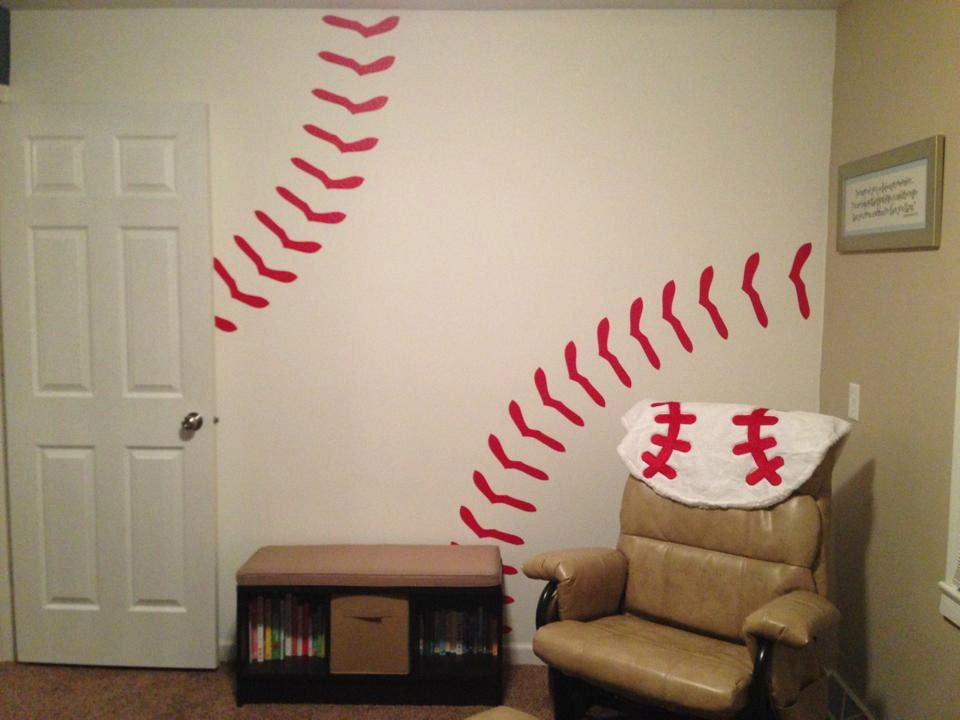 Baseball Wall Decal by OogiesDesigns on Etsy