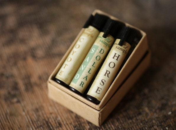 Natural Cologne Oil Samples - Mini Set of 3 - Fauna Inspired - ForStrangeWomen