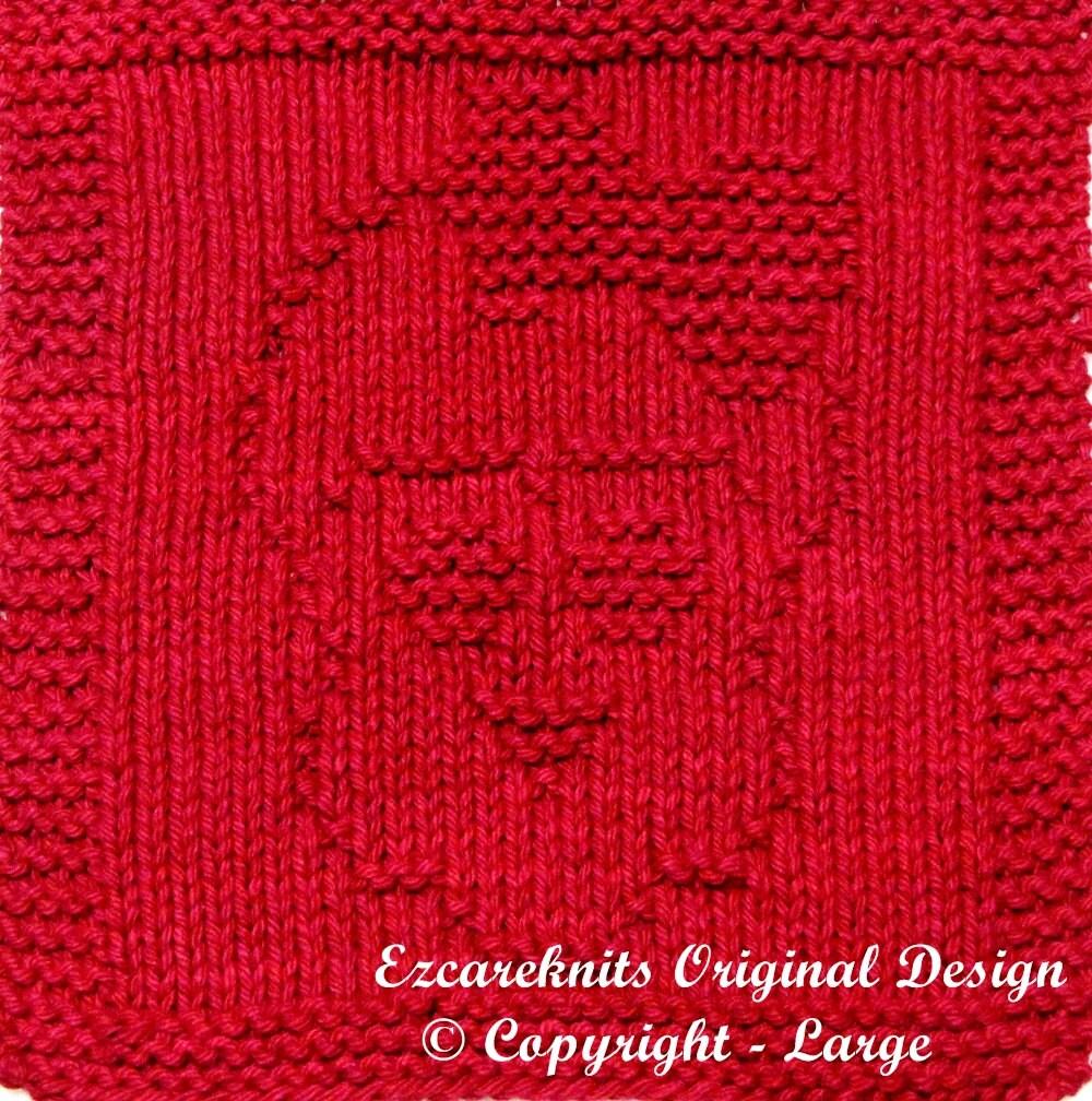 Large Knitting Cloth Pattern GIRLY SKULL PDF by ezcareknits