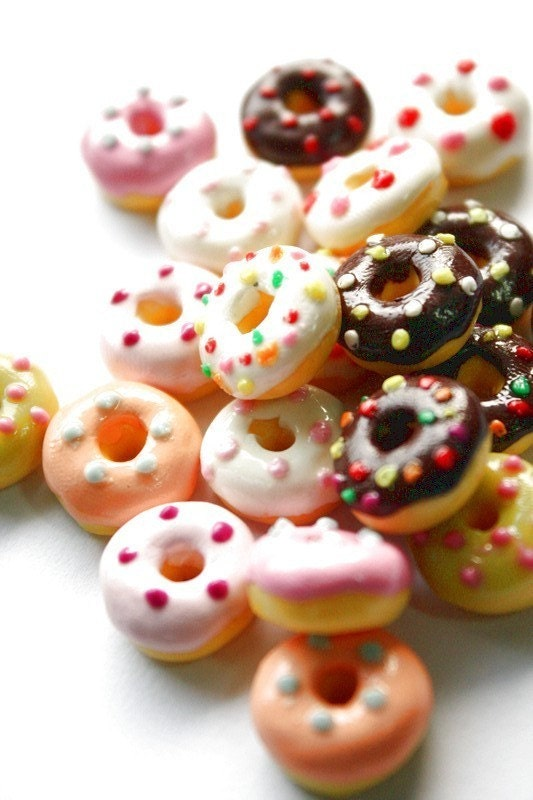 Miniature polymer clay foods supplies for beaded by claydecor