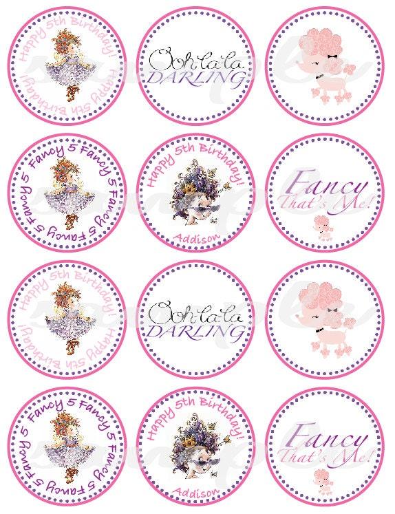 Fancy Nancy Cupcake Rings