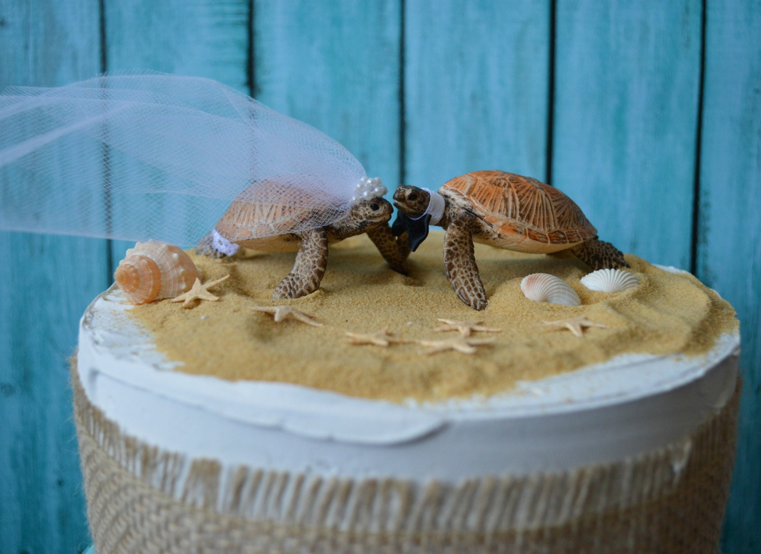 Etsy Listing  Beach Wedding Cake Topper Starfish Cake Ref