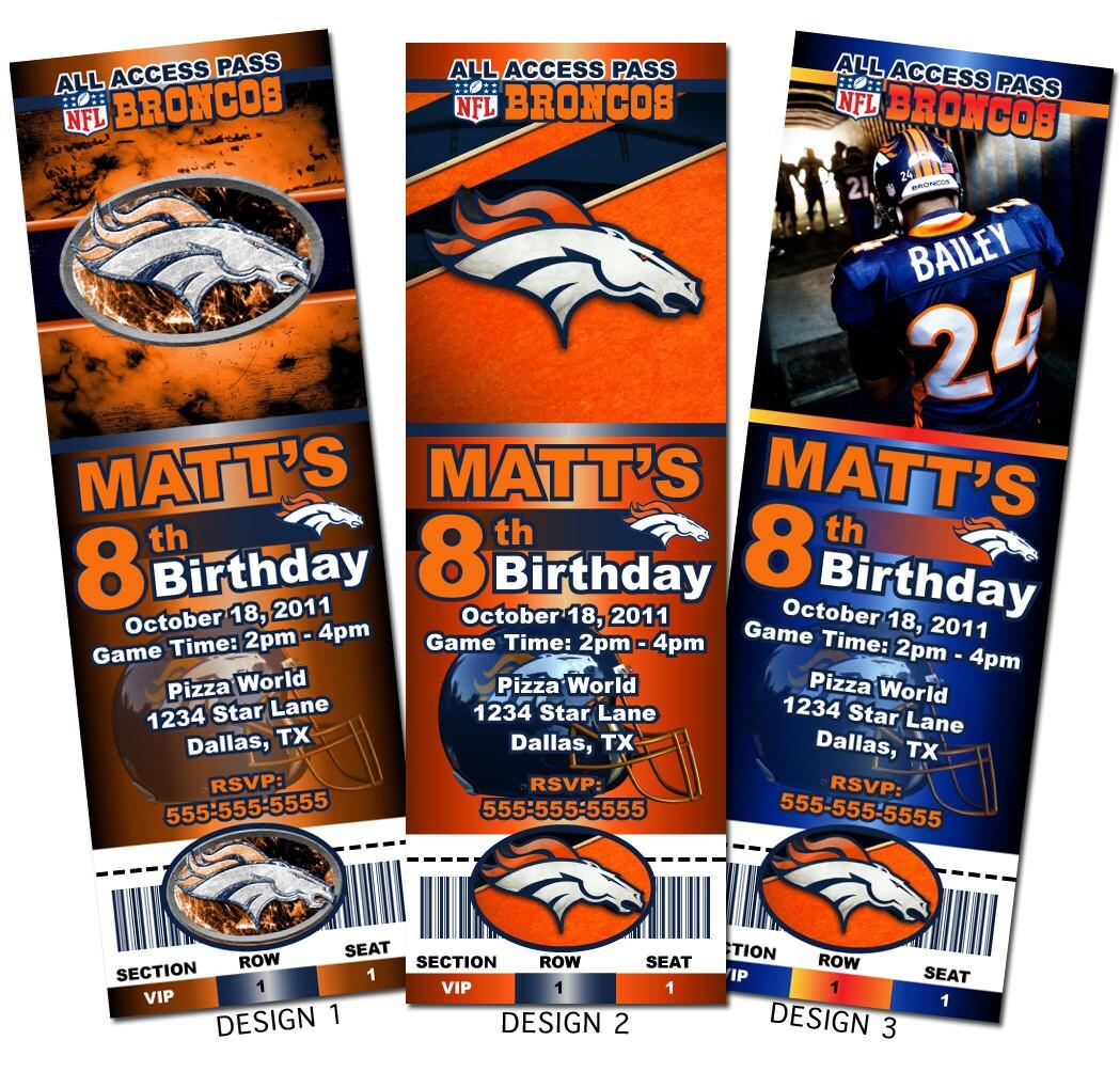 Denver Broncos Invitations For A Denver Broncos Theme  ~ 183647_Birthday Party Ideas Denver