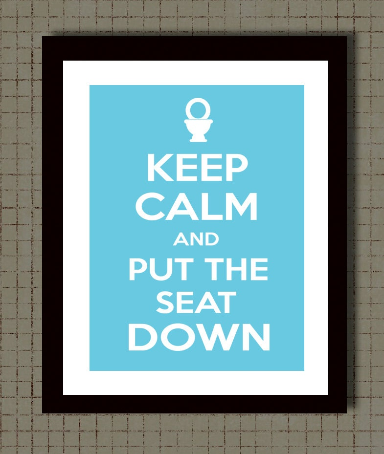 Bathroom Rules Wall Decor : Bathroom wall decor keep calm print rules by