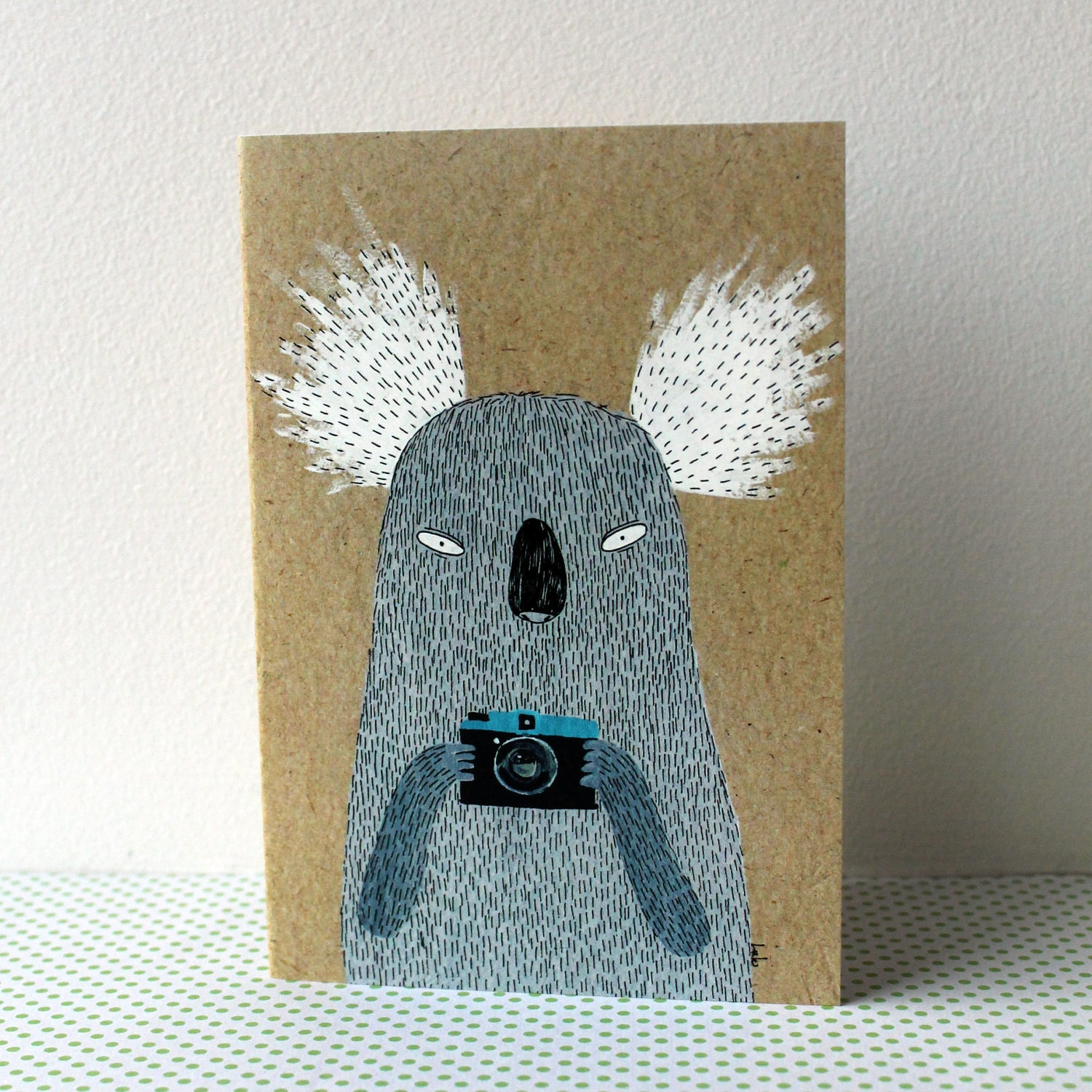 Koala with camera card - lukaluka