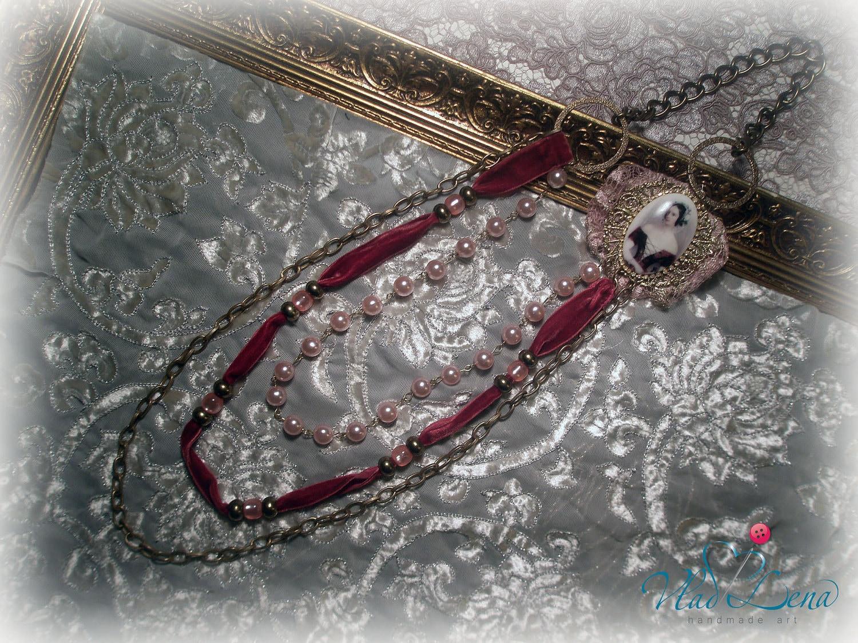 ШУБЕРТ (1) Vintage Вдохновленный Ожерелье с уникальным Камея