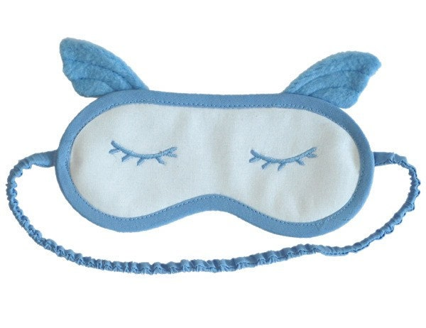 Blue Angel Embroidered Sleep Mask - PomponDesigns