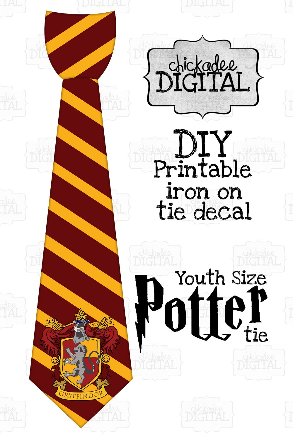 It's just a photo of Critical Harry Potter Tie Printable
