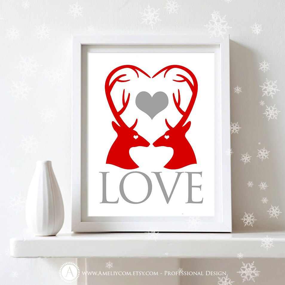 10 Diy Valentine S Day Gift And Home Decor Ideas: Printable Valentines Day Decor Print INSTANT By AmeliyCom
