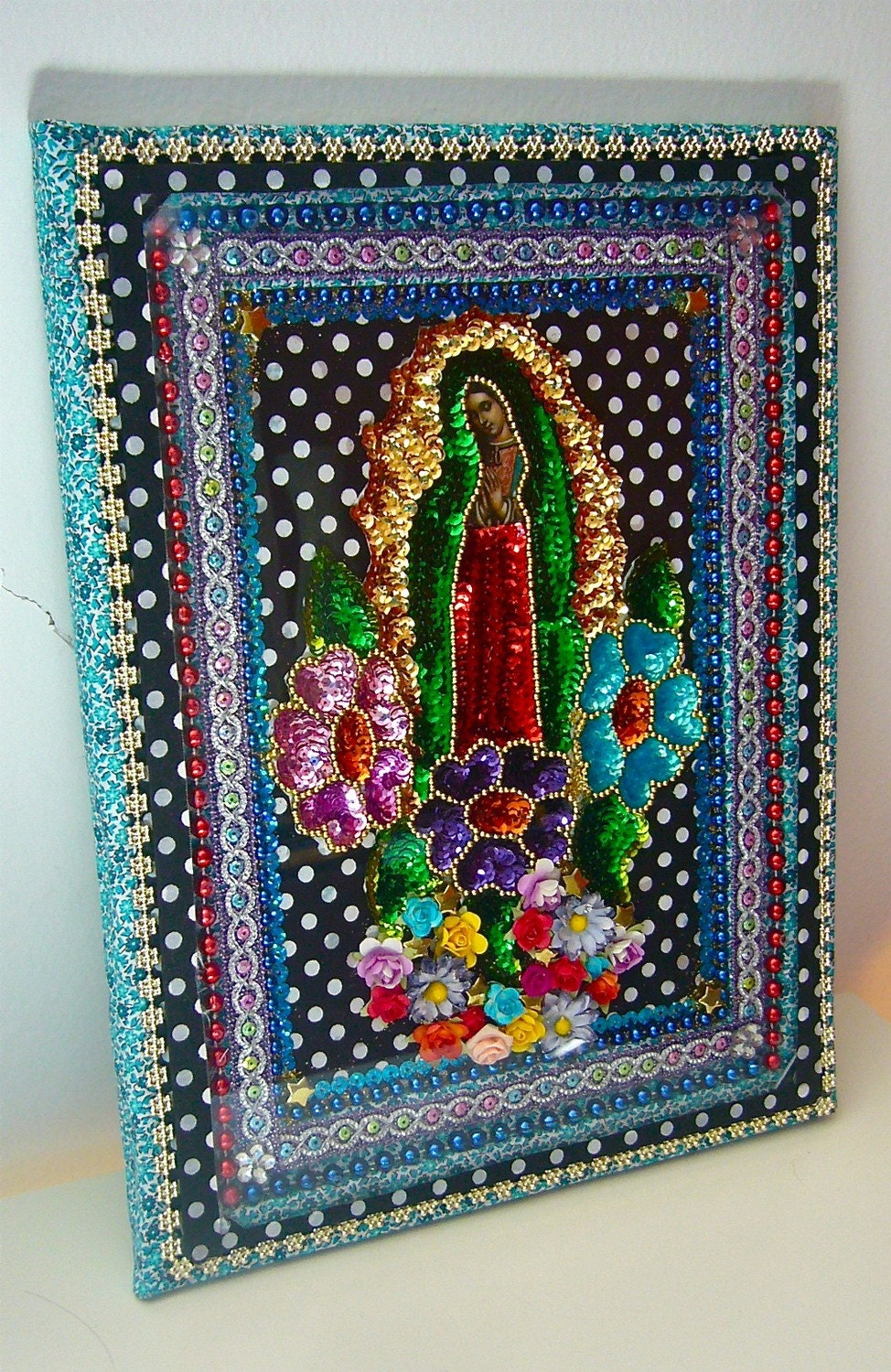 Mexican Wall Hanging Decor : Our lady of guadalupe mexican large wall art by thevirginrose
