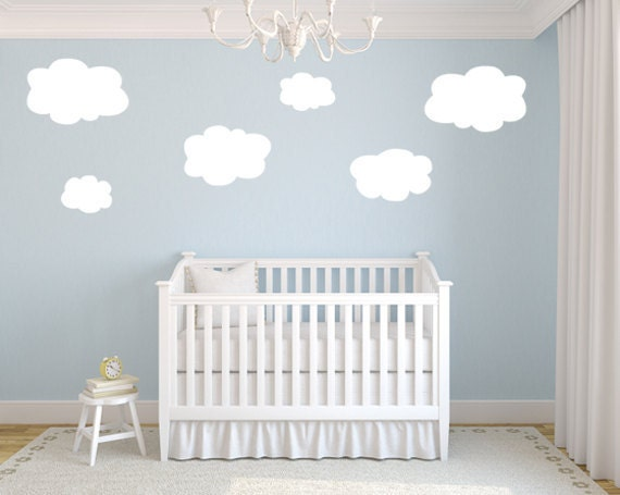 Cloud Wall Decals Etsy  Color The Walls Of Your House - Nursery wall decals clouds