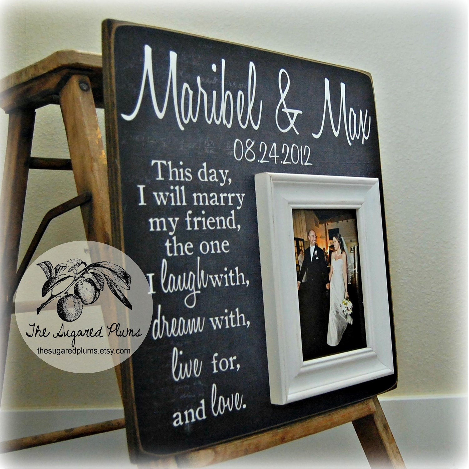 Wedding Frame Personalized 16x16 This Day I Will Marry My Best Friend ...